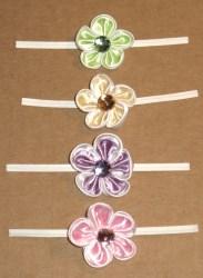 доступные цвета для оформление пакета из целлофана цветком из атласной ленты