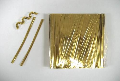 твисты золотистого цвета / для завязывания целлофановых пакетов и пакетиков