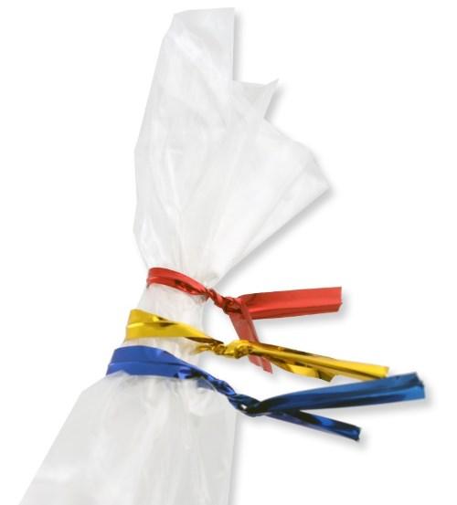 Твисты золотого и серебряного цвета для завязывания пакетов (набор 20 шт)