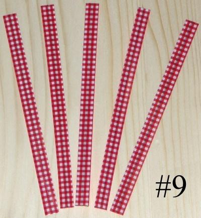проволочки для завязывания пакетов / красные пластиковые твисты 12 см