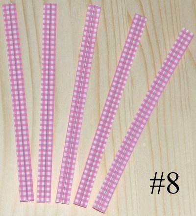 проволочки для завязывания пакетов / розовые пластиковые твисты клетка 12 см