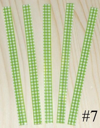проволочки для завязывания пакетов / пластиковые твисты клетка салатового цвета, ширина 12 см