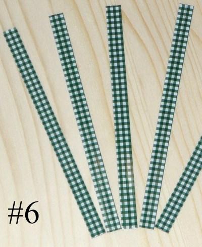 проволочки для завязывания пакетов / пластиковые твисты зелёная клетка 12 см