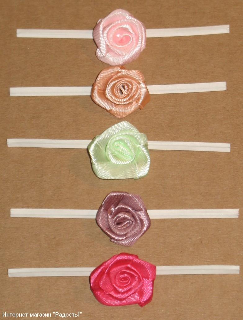 Розы сделанные своими руками из атласной ленты 958
