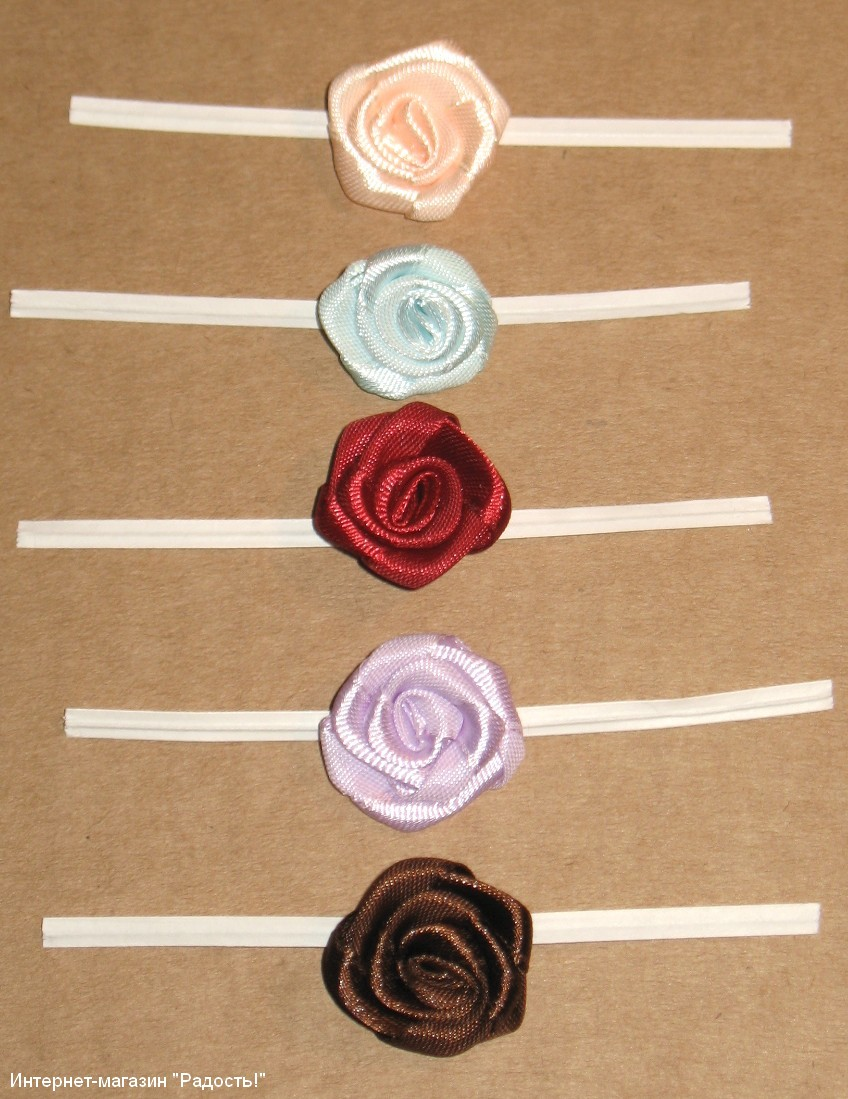 Розы лентами своим руками 40